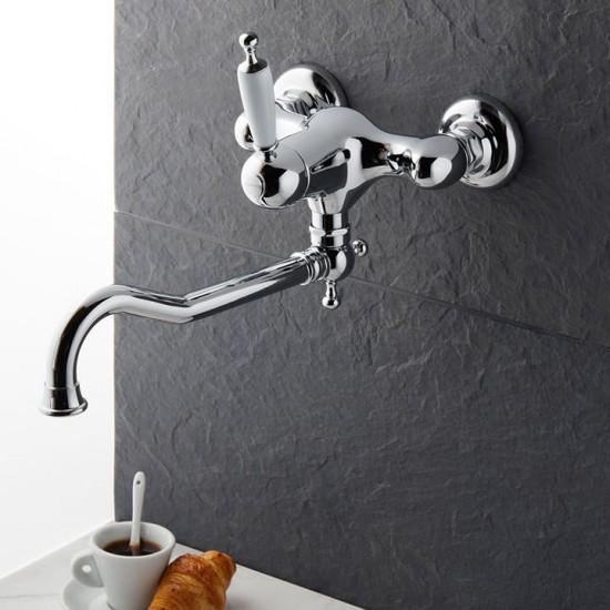 Μπαταρία νεροχύτη OXFORD BUGNATESE χρωμέ τοίχου 6340
