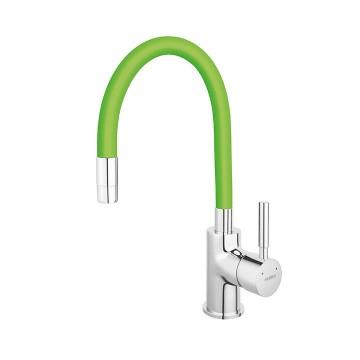 Μπαταρία νεροχύτη FERRO ZUMBA BZA4G με εύκαμπτο στόμιο πράσινο