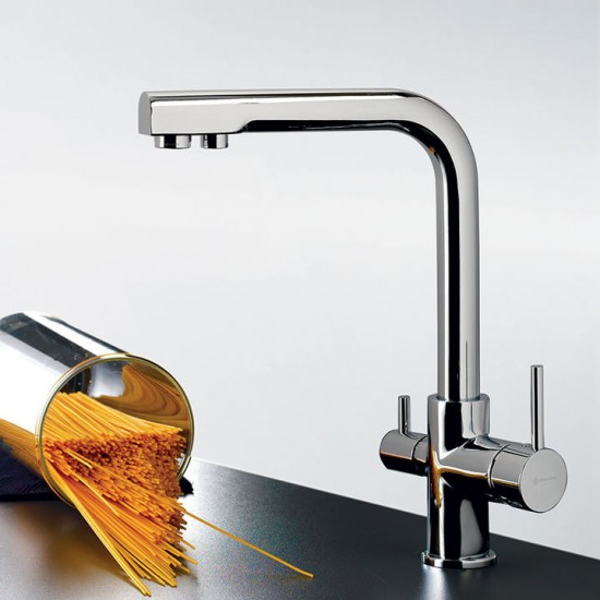 Μπαταρία νεροχύτη EURORAMA FILTER TAP 13534 για σύνδεση με ντεπόζιτο χρωμέ