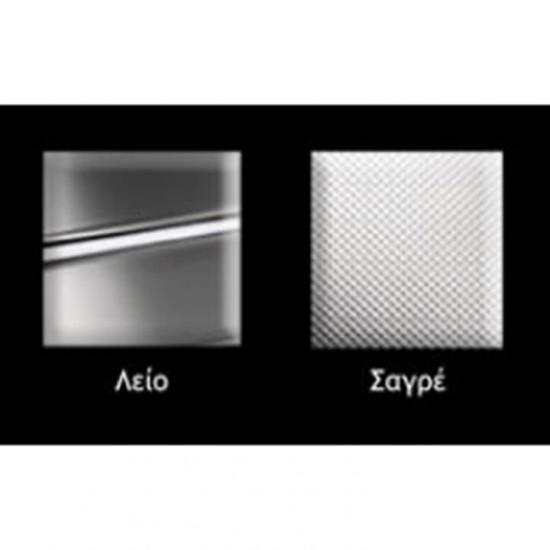 Νεροχύτης ανοξείδωτος  FORTINOX ARENA ένθετος 22080 σαγέ (80X50)