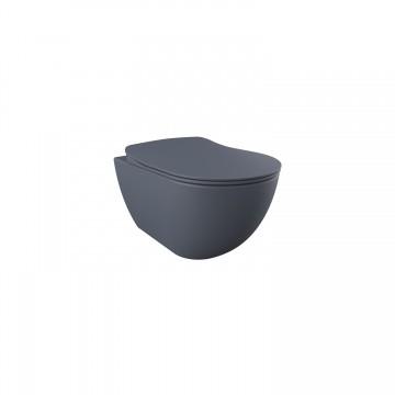 Λεκάνη πορσελάνη CREAVIT κρεμαστή FREE basalt (χωρίς κάλυμμα) FE320.20000