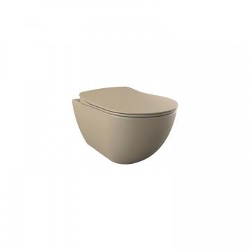 Λεκάνη πορσελάνη CREAVIT κρεμαστή FREE cappuccino (χωρίς κάλυμμα) FE320.F0000
