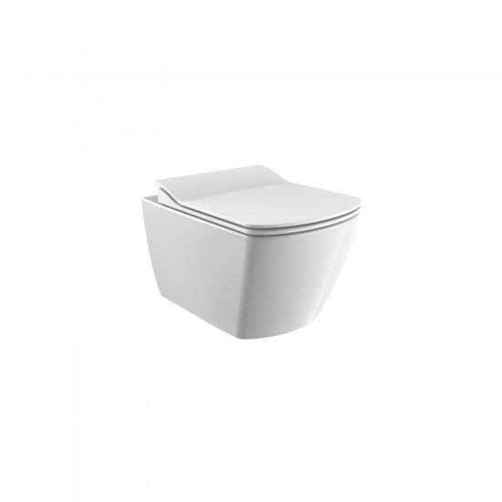 Λεκάνη πορσελάνη CREAVIT κρεμαστή ELEGANT RIMLESS λευκή (χωρίς κάλυμμα) EG321