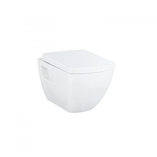 Λεκάνη πορσελάνη CREAVIT κρεμαστή QUADRO λευκή (χωρίς κάλυμμα) TP326