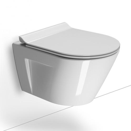 Λεκάνη πορσελάνη GSI NORM SWIRL κρεμαστή με κάλυμμα βακελίτη slim soft close
