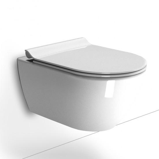 Λεκάνη πορσελάνη GSI PURA SWIRL κρεμαστή με κάλυμμα βακελίτη soft close