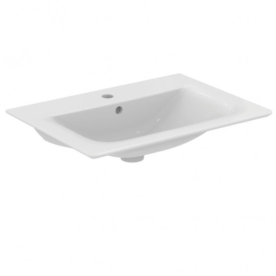 Νιπτήρας IDEAL STANDARD μπάνιου CONNECT AIR E0289 επίπλου 64 Χ 46