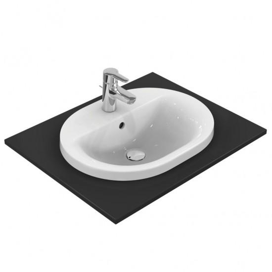 Νιπτήρας IDEAL STANDARD μπάνιου CONNECT RUNNING TRACK ένθετος E5039 55 Χ 43