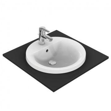 Νιπτήρας IDEAL STANDARD μπάνιου CONNECT ROUND/SPHERE ένθετος E5042 48cm