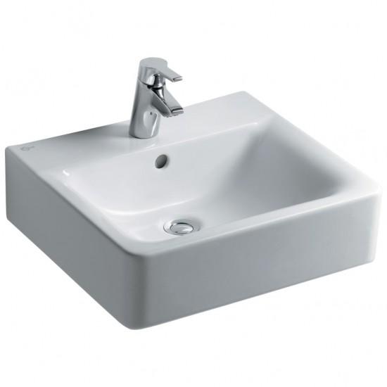 Νιπτήρας IDEAL STANDARD μπάνιου CONNECT CUBE ελεύθερης τοποθέτησης E7138 50 X 46cm