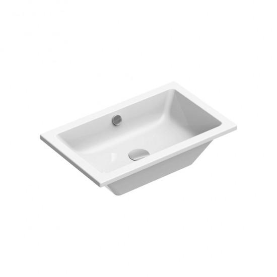 Νιπτήρας GSI μπάνιου KUBE 8953 ένθετος 60 Χ 37