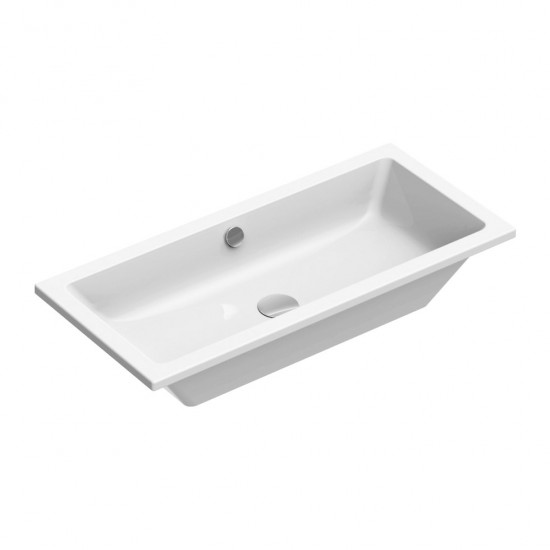 Νιπτήρας GSI μπάνιου KUBE 8954 ένθετος 80 Χ 37